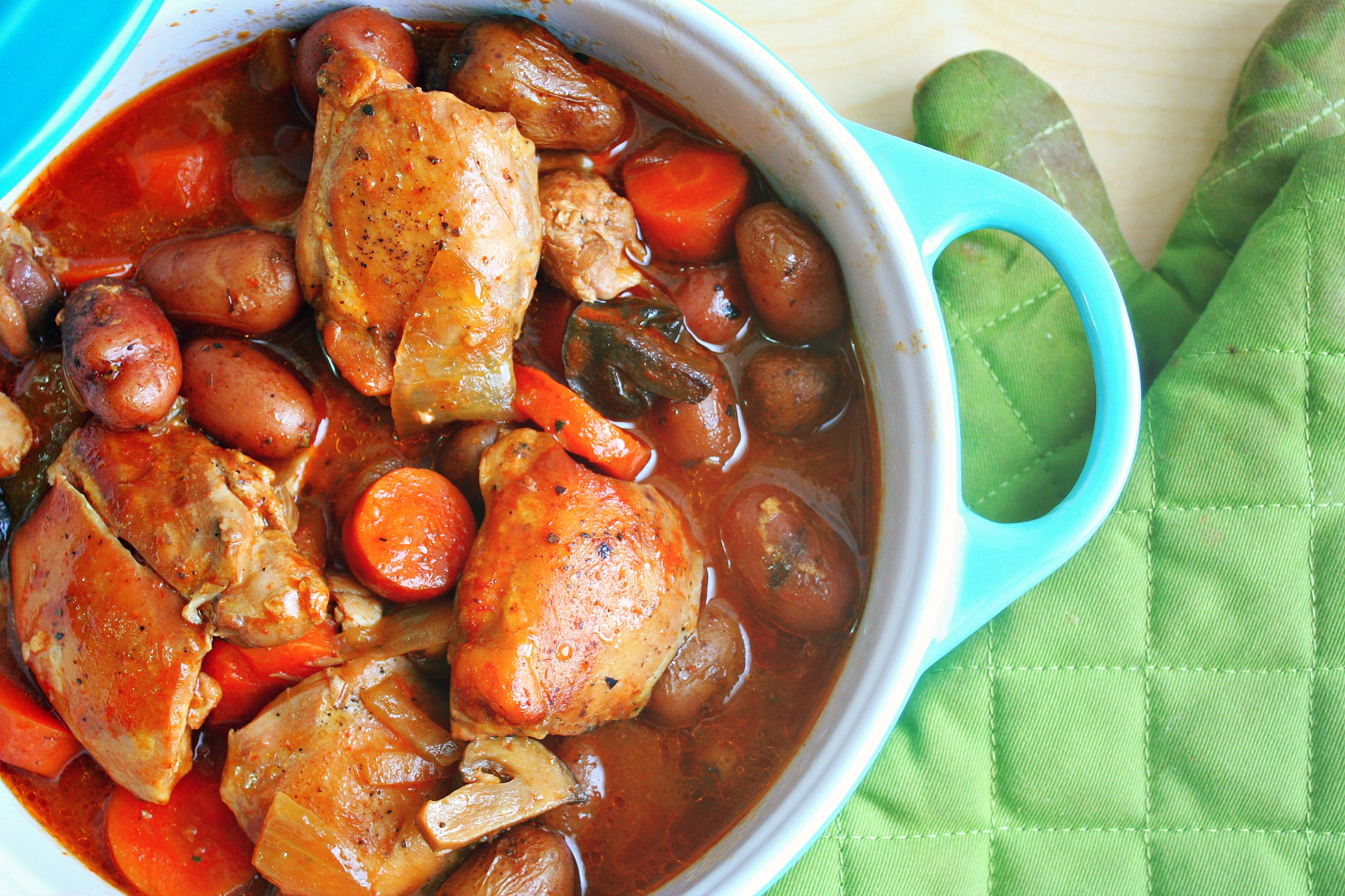 Beer-Braised Chicken and Root Vegetable Stew|KILLING THYME|